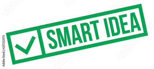 Photo Smart idea typographic stamp