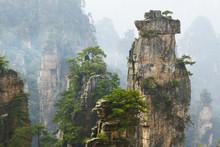 View Of Limestone Cliff In Zhangjiajie National Park, Hunan,China