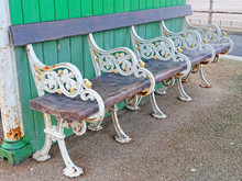 Antique Bench On The Blackpool...
