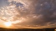 Timelapse windy cloudy sunset