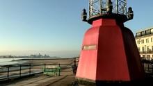 Tilt Shot Up Small Lighthouse ...