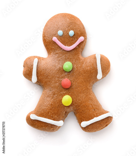 Top view of gingerbread man