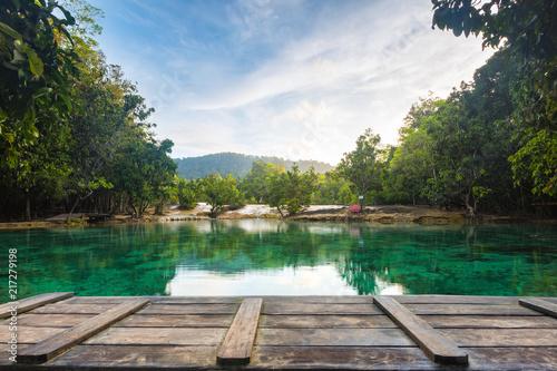 Keuken foto achterwand Bergen Emerald Pool in Krabi Thailand