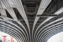 Abstract View Under The Blackfriars Railway Bridge In London