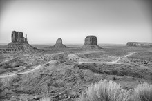 Monument Valley National Park Buttes On A Beautiful Summer Sunset