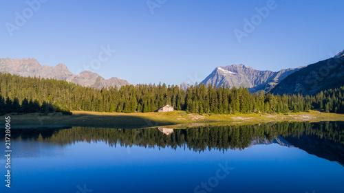 Foto op Plexiglas Meer / Vijver Palù lake in Valmalenco, alpine lake in Valtellina.
