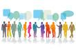 Gruppen Business Leute als Team Konzept