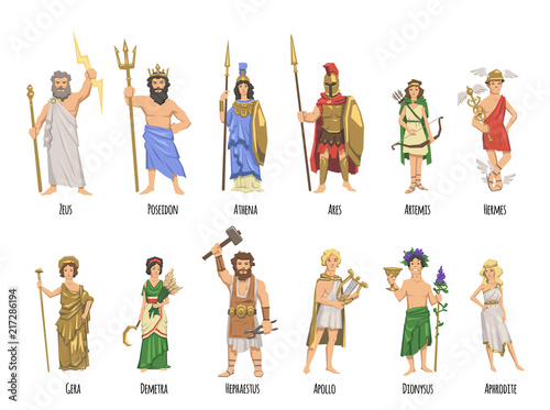 Cuadros en Lienzo Pantheon of ancient Greek gods, Ancient Greece mythology