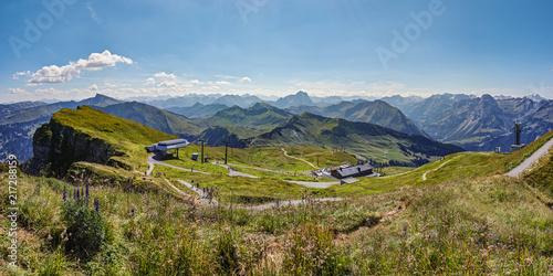 Fotobehang Spoorlijn Diedamskopf Austria Alps