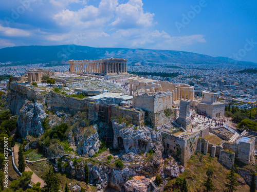 Keuken foto achterwand Historisch geb. Amasing aerial view to The Parthenon Temple at the Acropolis of Athens, Greece