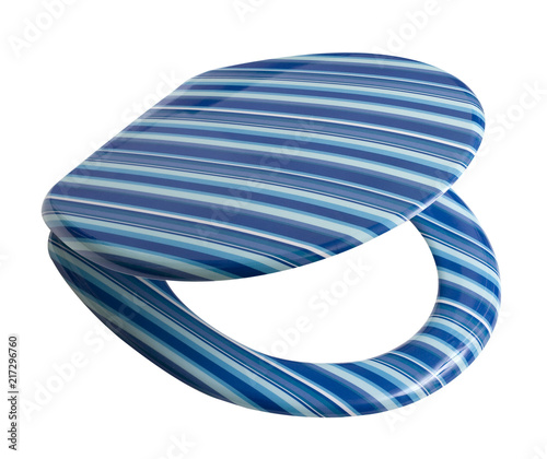 Magnificent Modern Design Lid For Toilet In Blue Stripes With Clipping Gamerscity Chair Design For Home Gamerscityorg