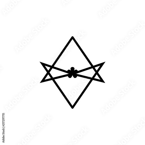 Photo  Thelema Unicursal hexagram sign icon