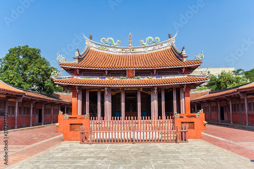 Spoed Foto op Canvas Bedehuis Confucius temple in the center of Tainan, Taiwan