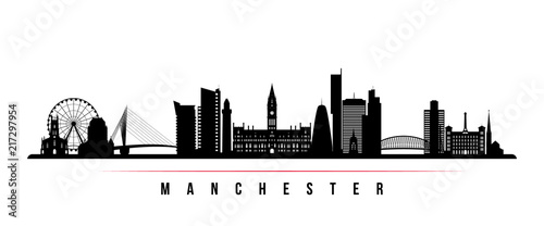 Photo Manchester city skyline horizontal banner