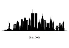 New York City Skyline With Twi...