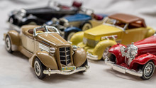Collection Of Old Car Model. R...