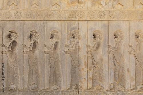 Foto op Plexiglas Artistiek mon. Immortal warrior sculptures in Persepolis Persia