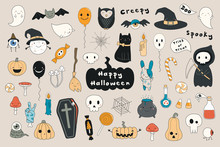 Big Set Of Kawaii Funny Hallow...