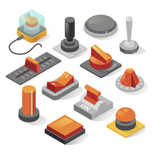 Isometric Buttons Vector Set I...