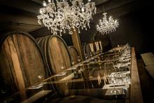 Weinkeller Und Verkostungstafel