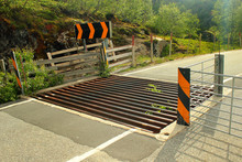 Cattle Grid On A Road, Souther...