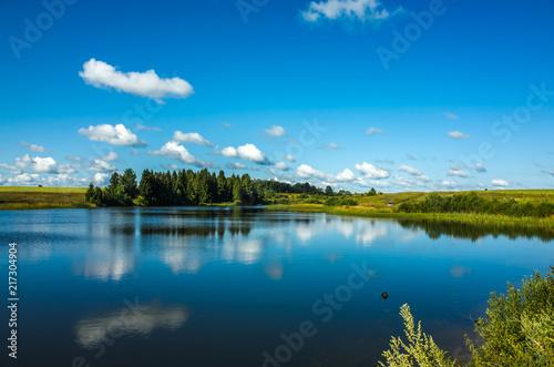 Foto op Plexiglas Meer / Vijver Beautiful morning lake, Vladimir region, Russia