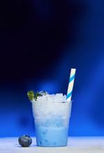 Plastic Cup Of Blueberry Slush
