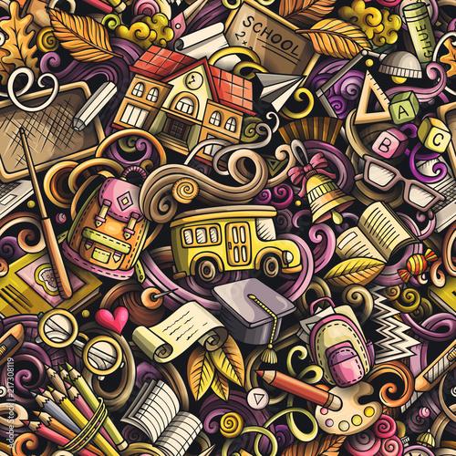 Tapety do pokoju młodzieżowego  school-doodles-seamless-pattern-day-of-knowledge-hand-drawn-doodle-art-background-back-to