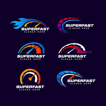 Speed Logo Design Template. Fa...