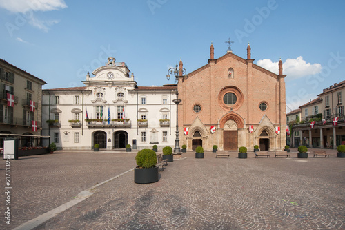 Piazza San Secondo Asti Canvas Print