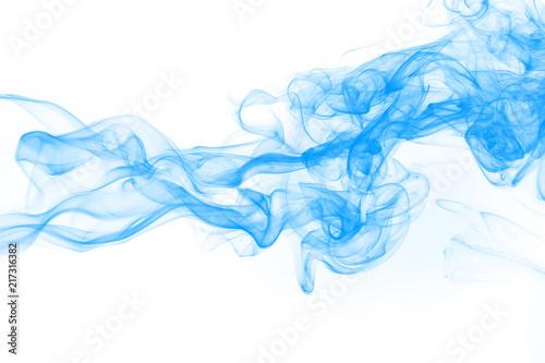 Türaufkleber Rauch Blue smoke abstract on white background