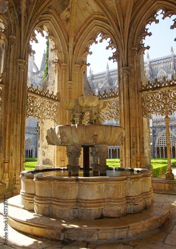 In de dag Fontaine Fontaine du Monastère de Batalha