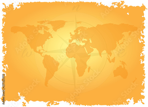 Great detailed illustration of the world map in vintage style great detailed illustration of the world map in vintage style imitation on old parchment background with gumiabroncs Images