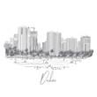 Dubai. United Arab Emirates. Hand drawn city sketch.
