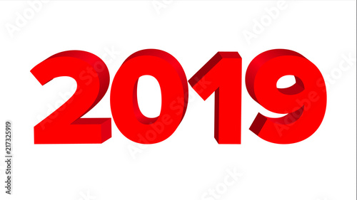 2019 sign vector numbers 2019 banner new year background illustration