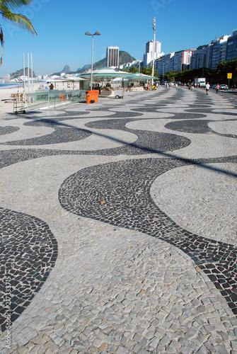 Deurstickers Centraal-Amerika Landen Copacabana Beach, Rio de Janeiro City