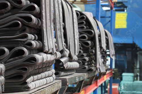 Photo  rubber raw material on shelves