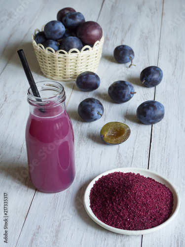 Fotografie, Obraz  Dry concentrate of plum juice