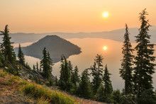Sunrise Over Crater Lake, Crat...