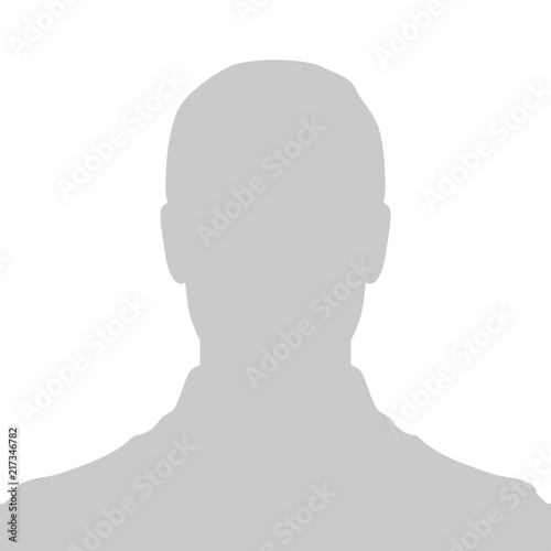 Profile Placeholder image. Gray silhouette no photo Canvas-taulu