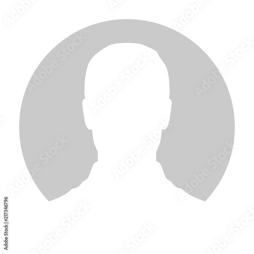 Profile Placeholder image. Gray silhouette no photo Tablou Canvas