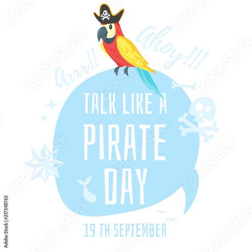 Talk like a pirate Wallpaper Mural