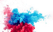 mix of red and blue ink splashes