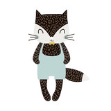 Cute cartoon cat boy in scandinavian style. Childish print for nursery, kids apparel,poster, postcard. Vector Illustration - 217361129