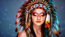 Indian Woman With Beautiful Make Up