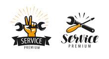 Service Logo Or Label. Repair,...