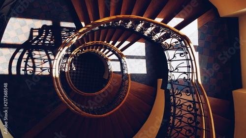Fototapeta Spiralne schody obraz