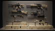 Tan Firearms Display 3d Illustration 3d Rendering