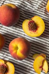 Naklejka na ściany i meble Raw Organic Yellow Peaches