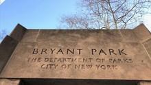 Bryant Park Corner In Midtown Manhattan NYC